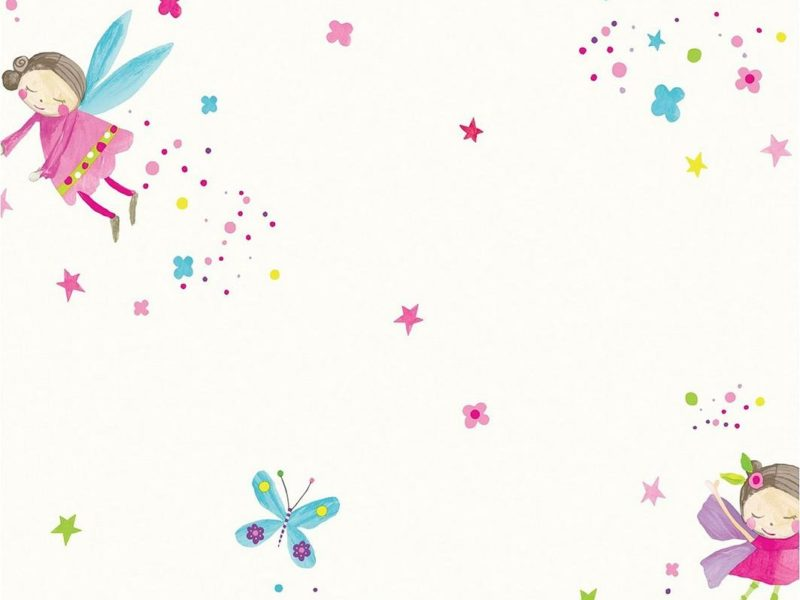 Fairy and butterfly theme wallpaper