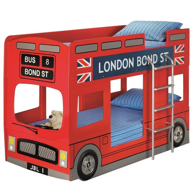 Red bus bunk bed