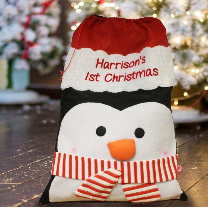 Penguin-themed gift sack