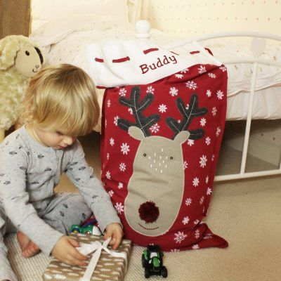 Reindeer-themed gift sack