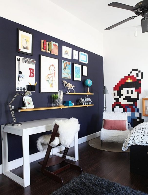 Super Mario themed room