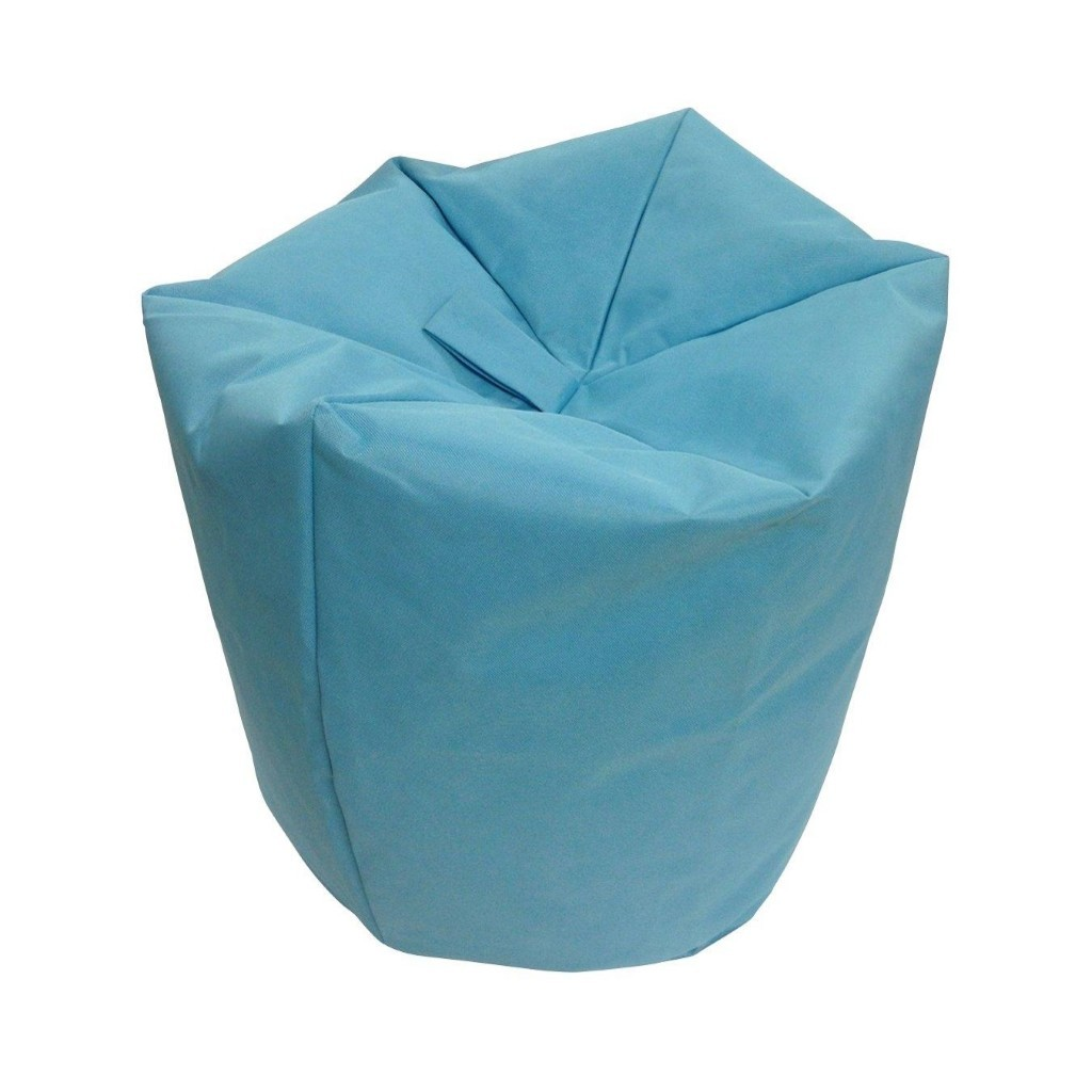 Turquoise coloured beanbag