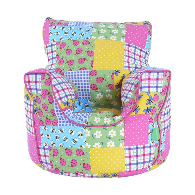 Patchwork pattern bean bag chair