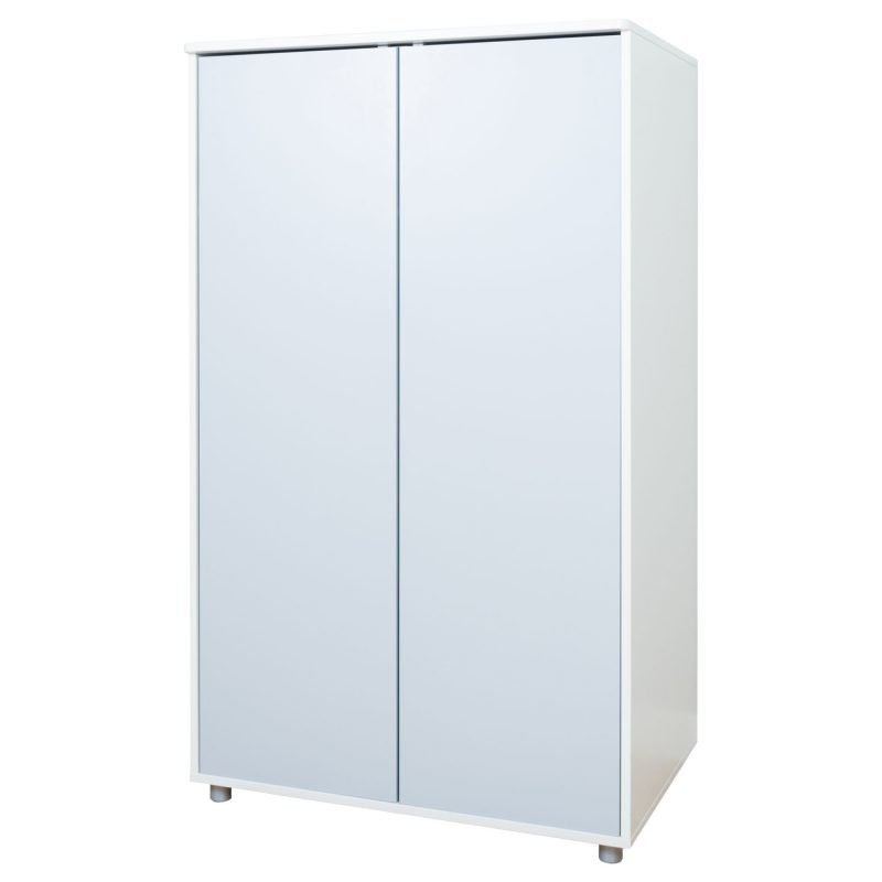 2 door wardrobe with grey doors