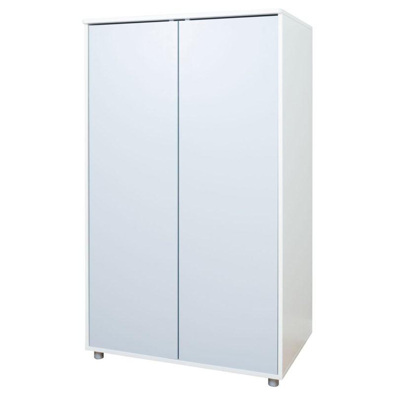 2 door wardrobe with grey doors