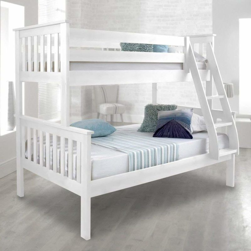 White-painted triple sleeper