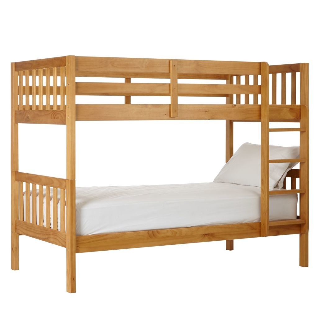Natural wood finish bunk beds