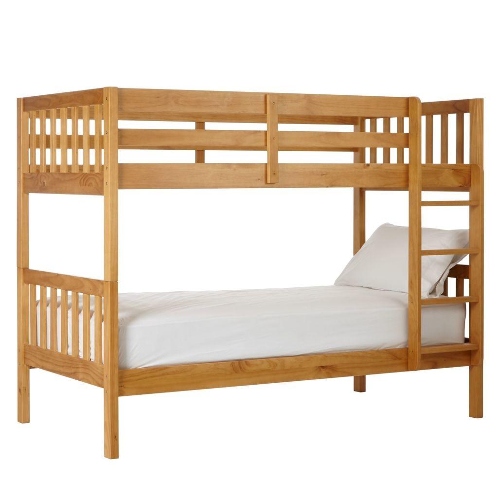 Natural wood finish bunk beds