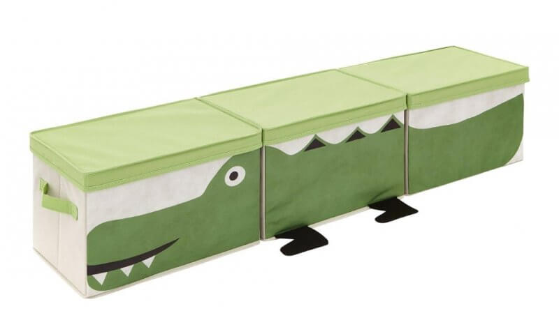 set of 3 crocodile theme storage boxes