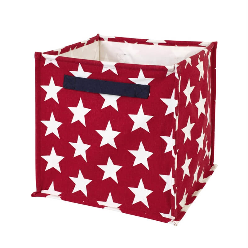 Red canvas cube with white stars print  sc 1 st  Childrenu0027s Room & Kids Storage Hampers Baskets u0026 Cubes u2013 Childrenu0027s Room