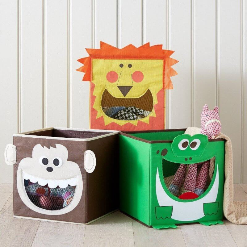 3 animal theme storage boxes