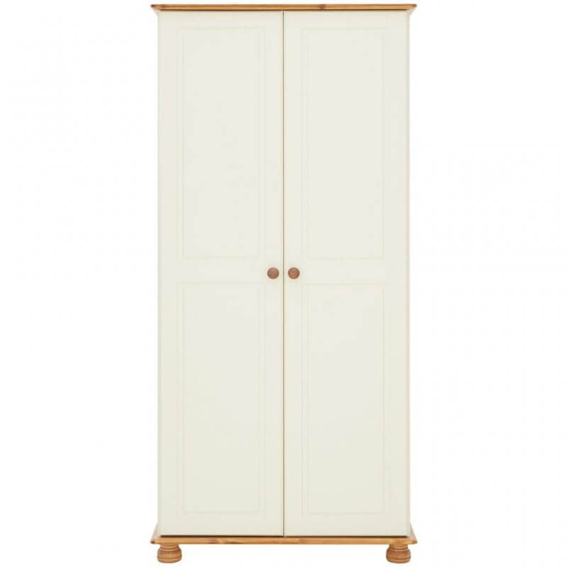 Cream and pine 2 door wardrobe
