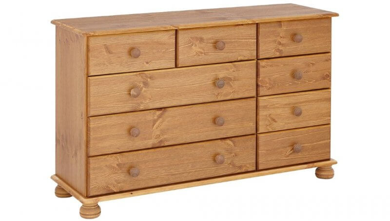 9 drawer pine chest