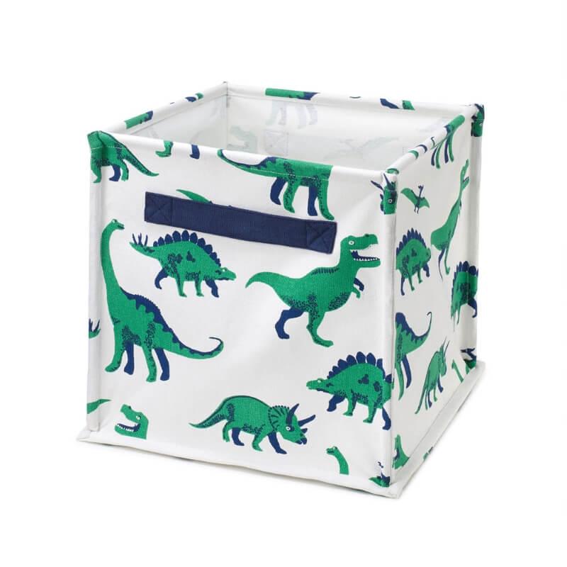 Dinosaur print storage cube