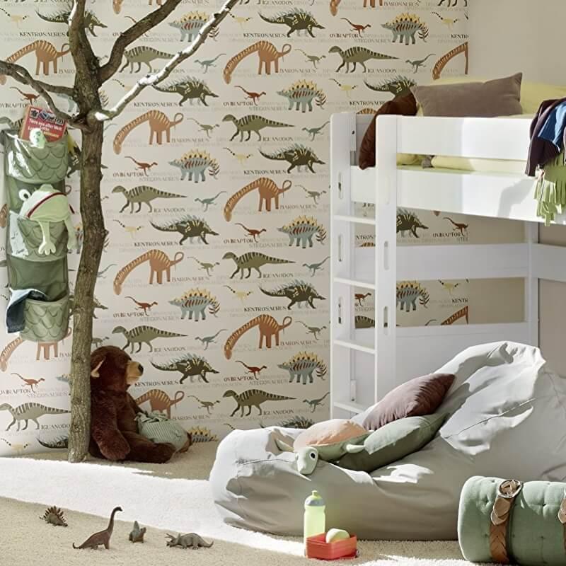 Repeat pattern dinosaur wallpaper