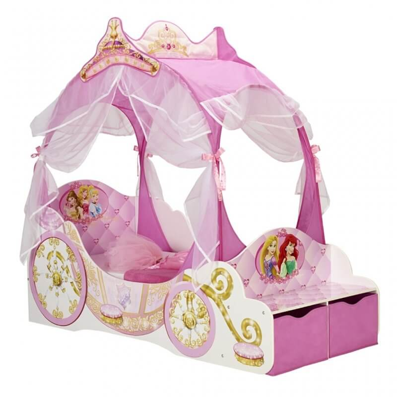 Princess carriage themed toddler bed