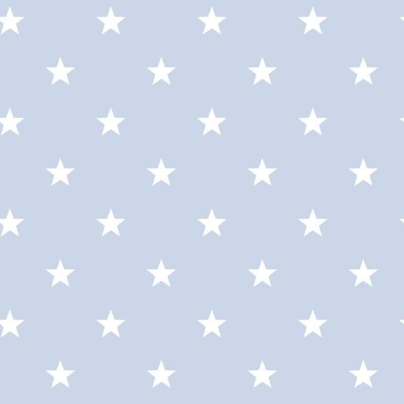 Blue wallpaper with white stars pattern