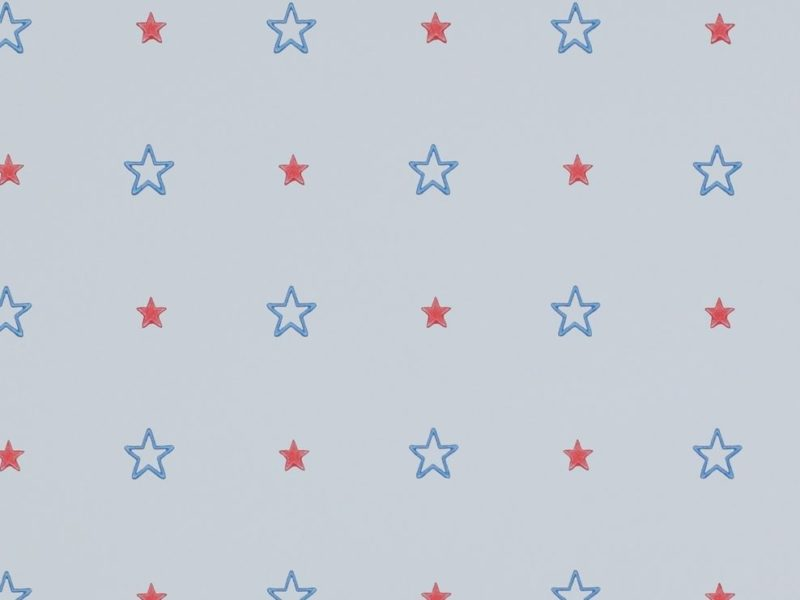 Blue wallpaper with blue and red star pattern