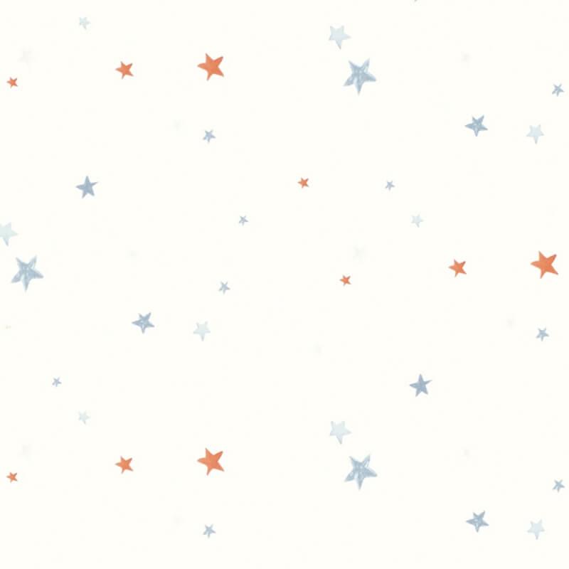 Kids Stars Pattern Wallpaper Childrens Room