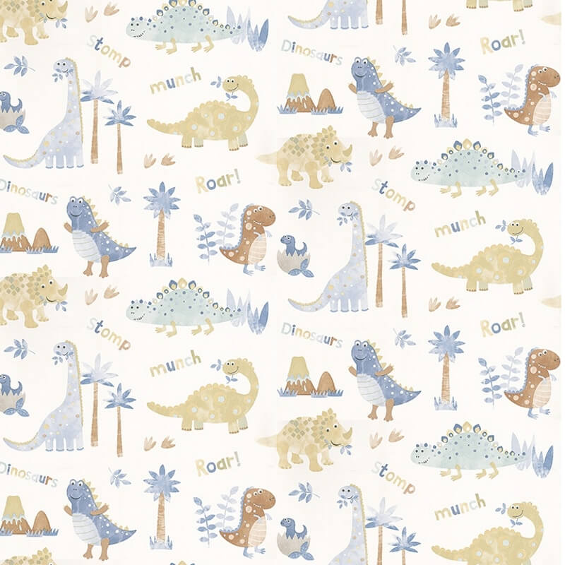 Nursery paper with a dinosaur theme
