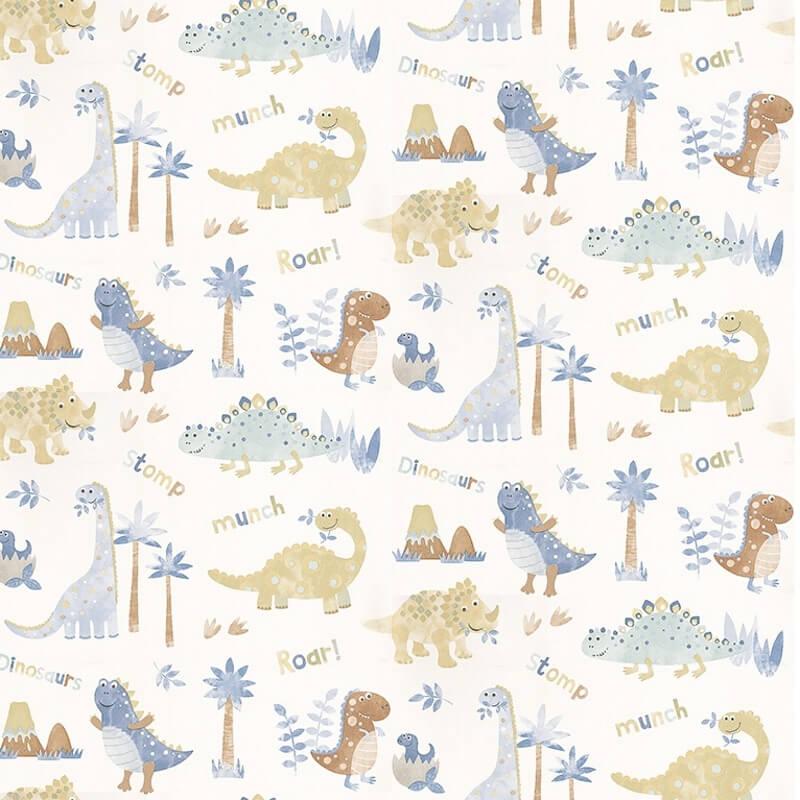 Nursery paper with a dinosaur theme