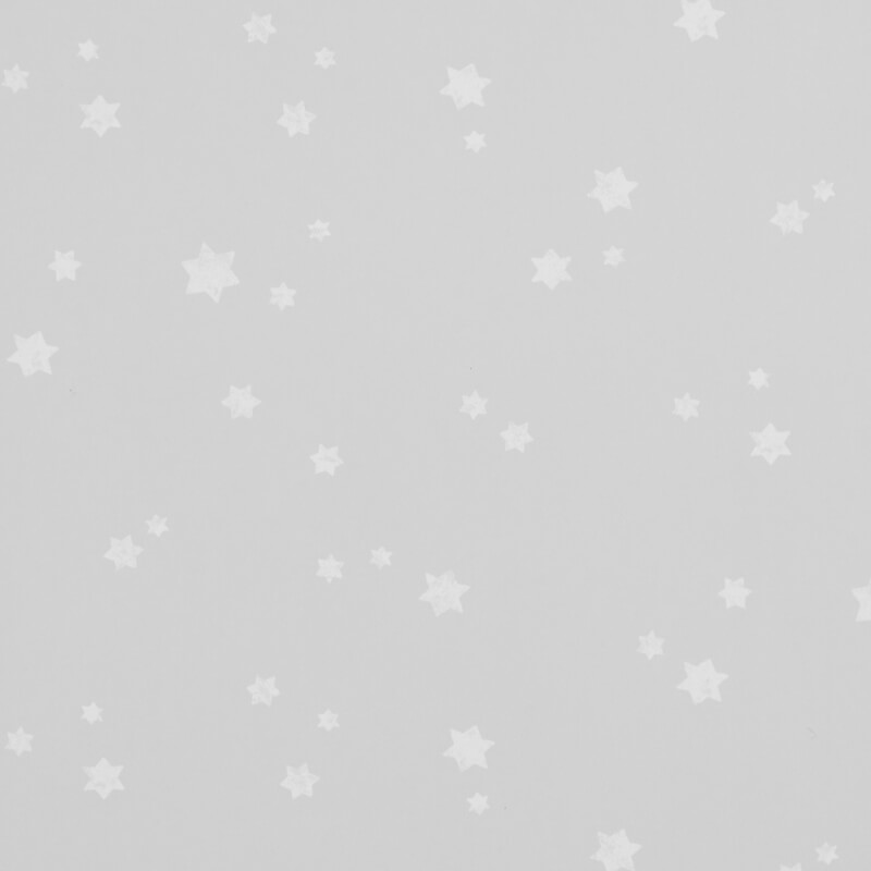 Grey wallpaper with random stars pattern