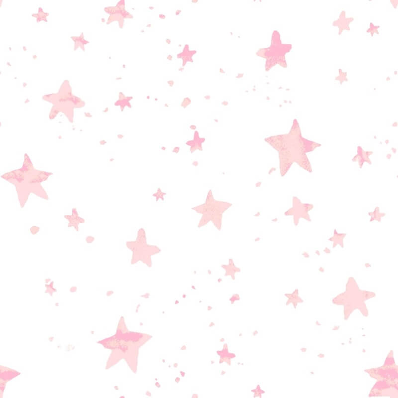 Soft pink star pattern wallpaper