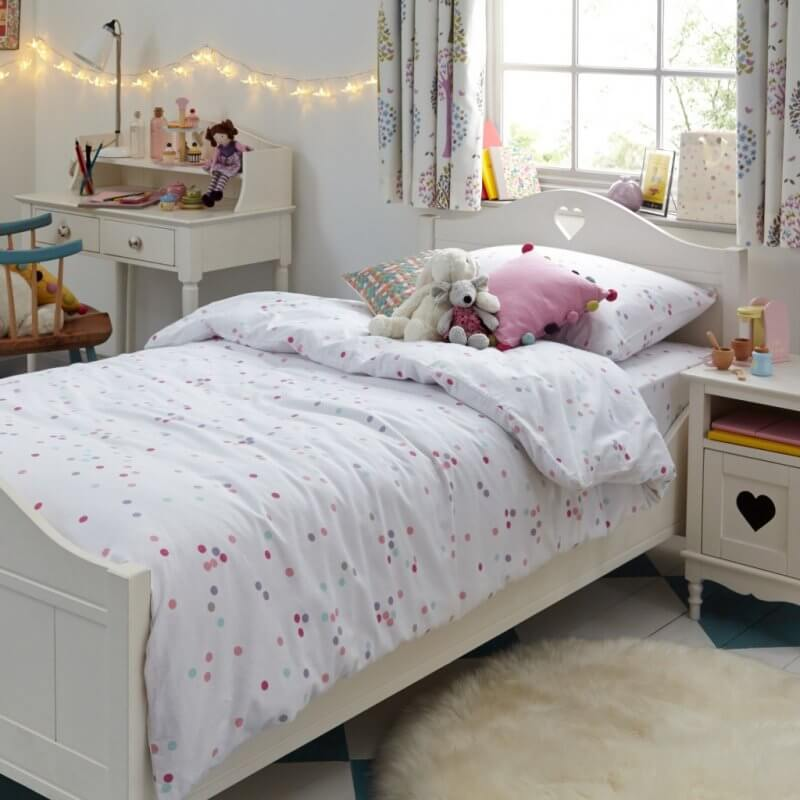 Ivory painted wooden bed frame