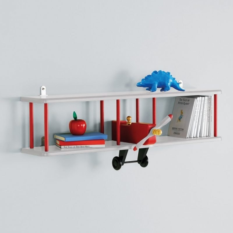 Bi-plane theme wall shelves