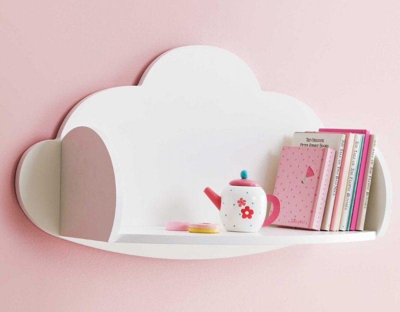 White cloud wall shelf