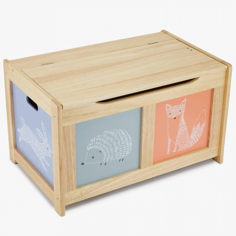 Forest animal theme toy chest