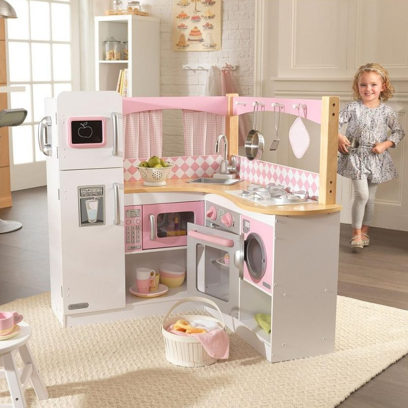 Corner style play kitchen
