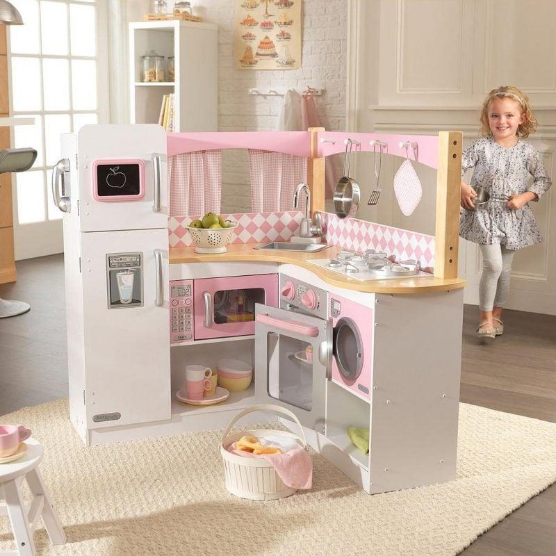 Corner style play kitchen
