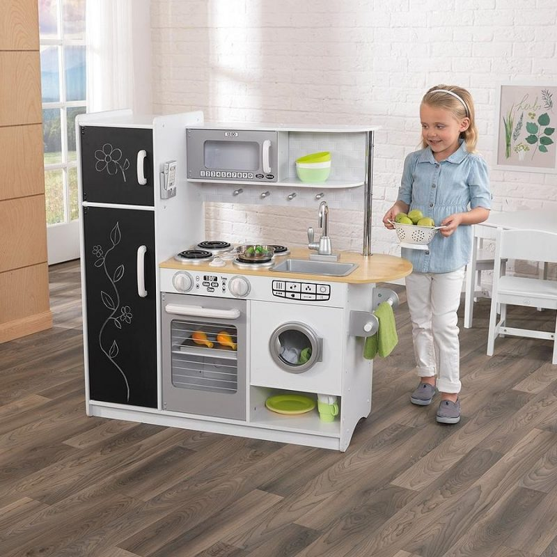 Modern style wooden play kitchen