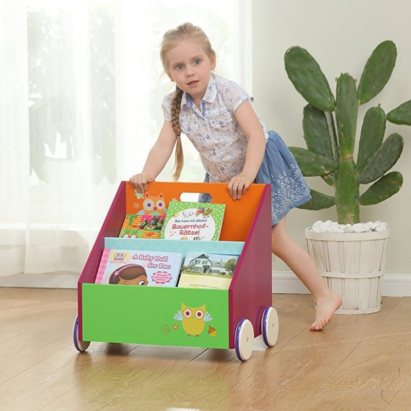 Multi-colour mobile bookcase