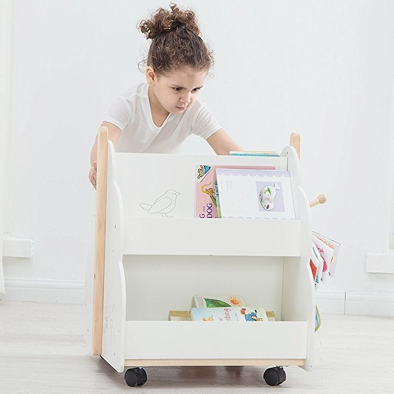 White accessible children's bookcase