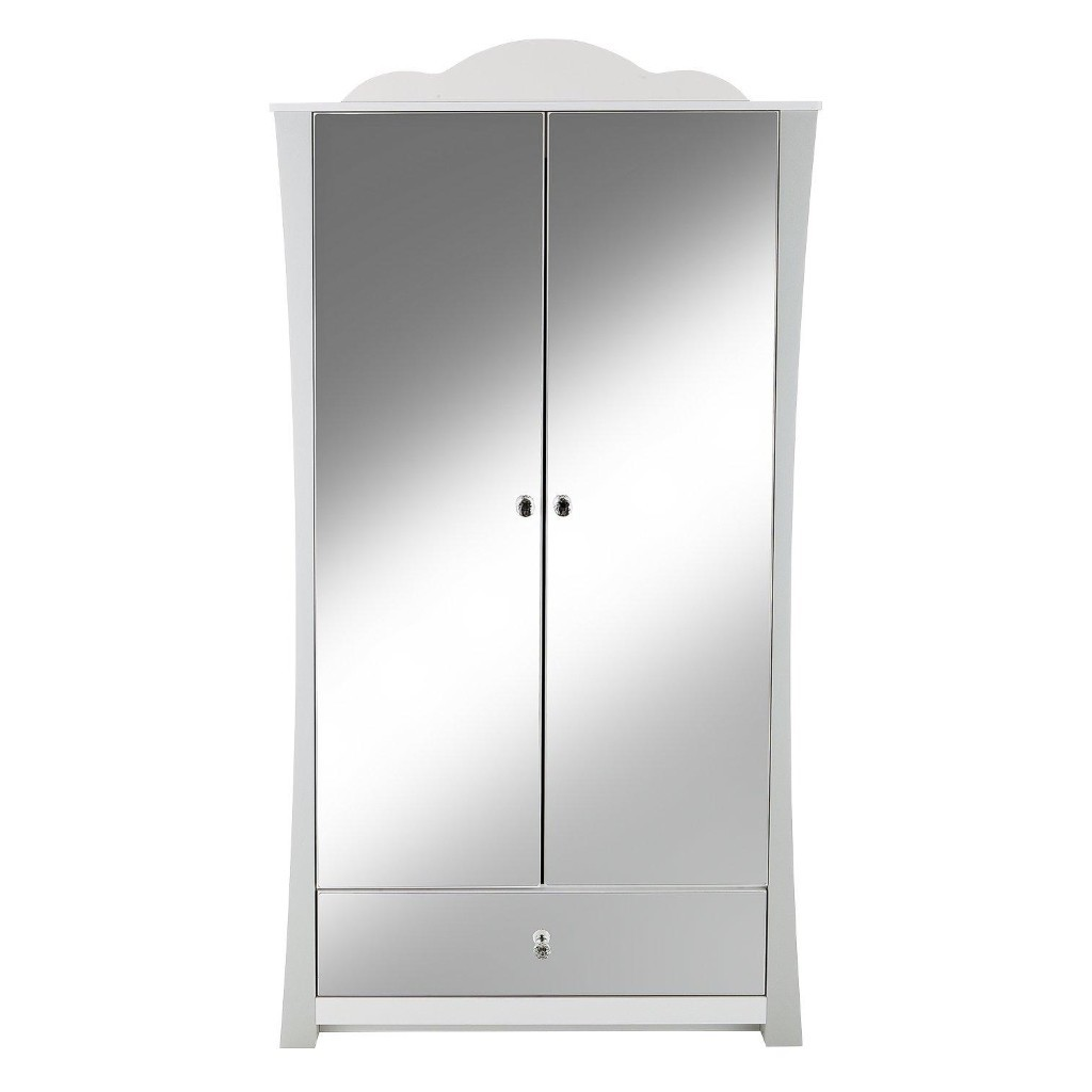Kid's 2 door wardrobe with mirrored doors