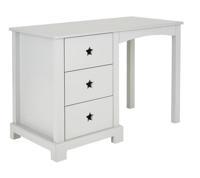 grey painted 3 drawer desk