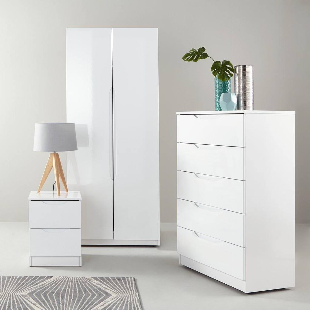 Modern bedroom furniture with a gloss finish