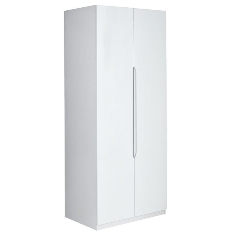 White gloss 2 door wardrobe