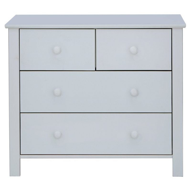 Grey painted 4 drawer chest