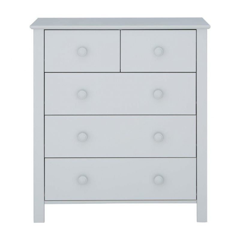 Grey painted 5 drawer chest
