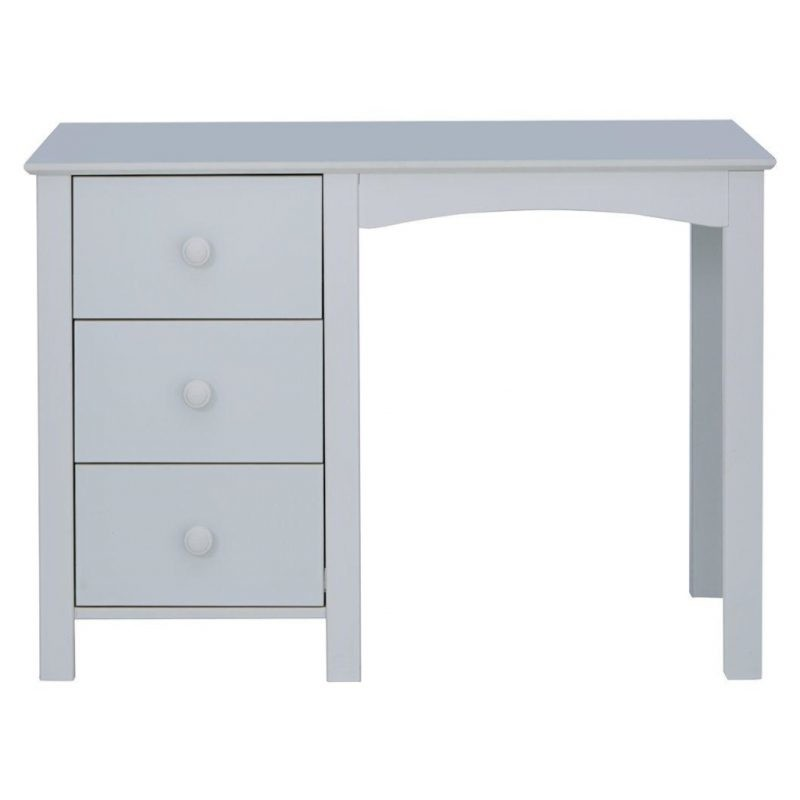 Grey painted desk with 3 drawers