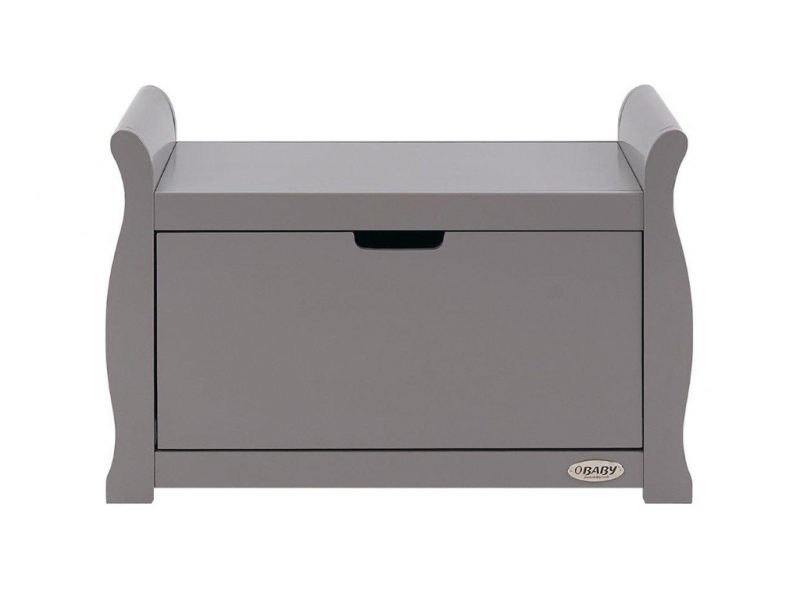 Grey painted toy chest