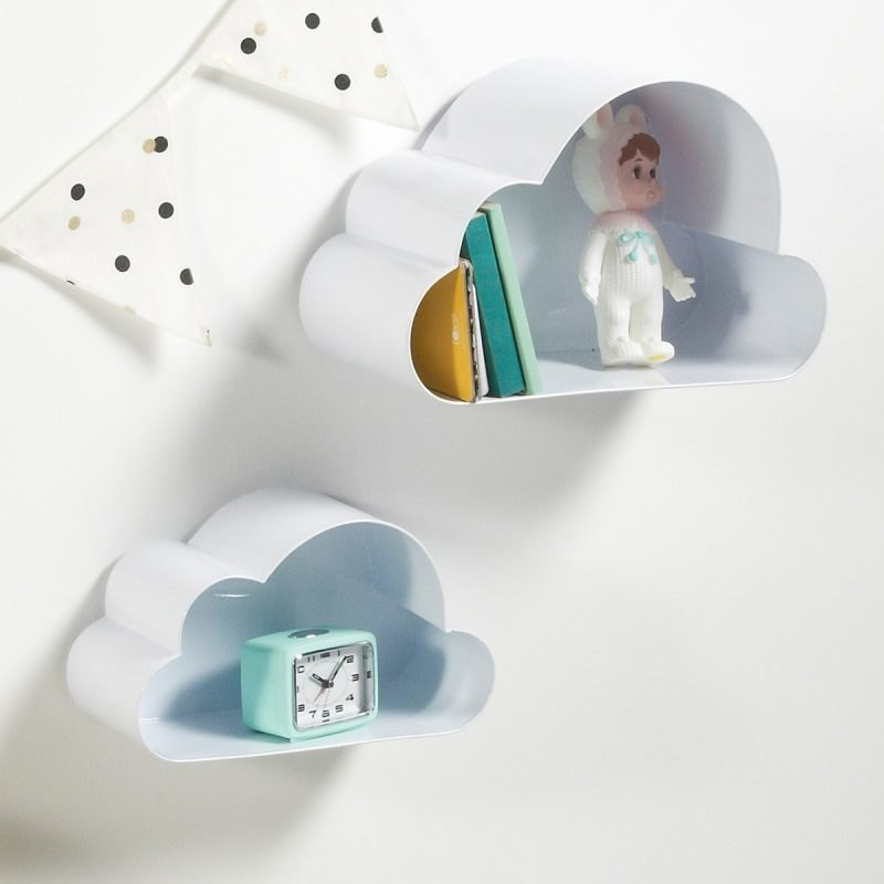 Cloud form wall shelves