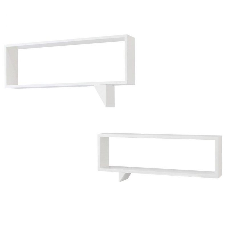 Pair of speech box wall shelves