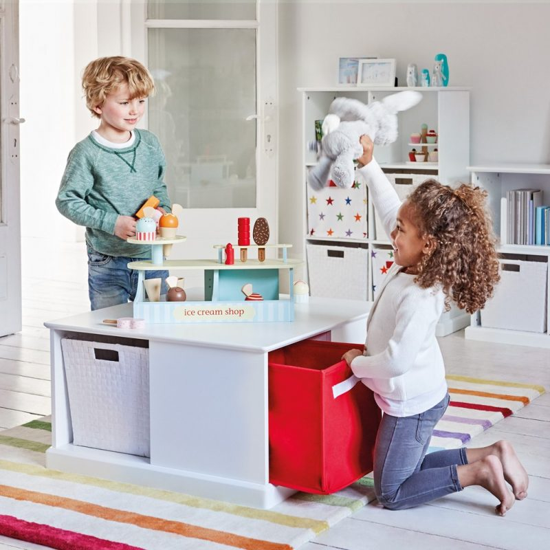 Storage play table