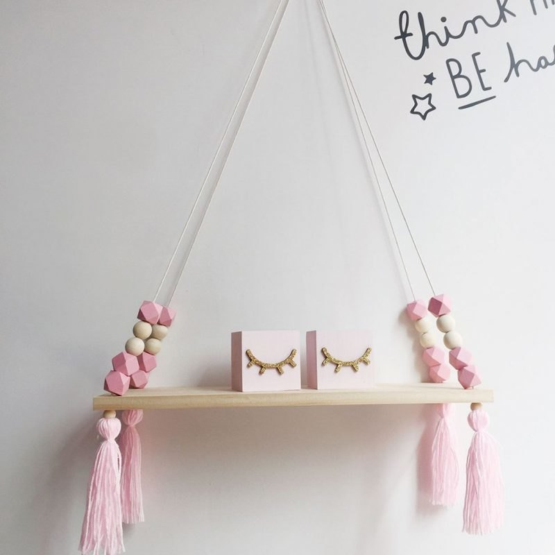 Rope swing shelf