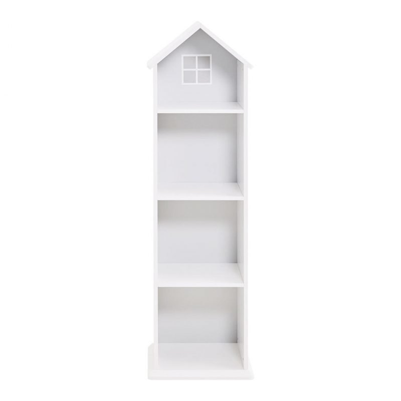 Free-standing bookcase in the shape of a house