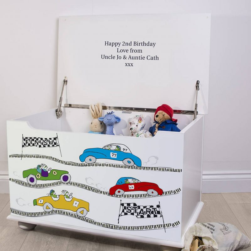 Personalised car them toy chest